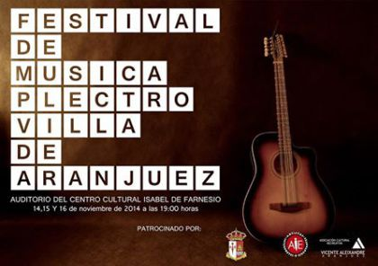 Cartel oficial del Festival de Música Plectro Villa de Aranjuez